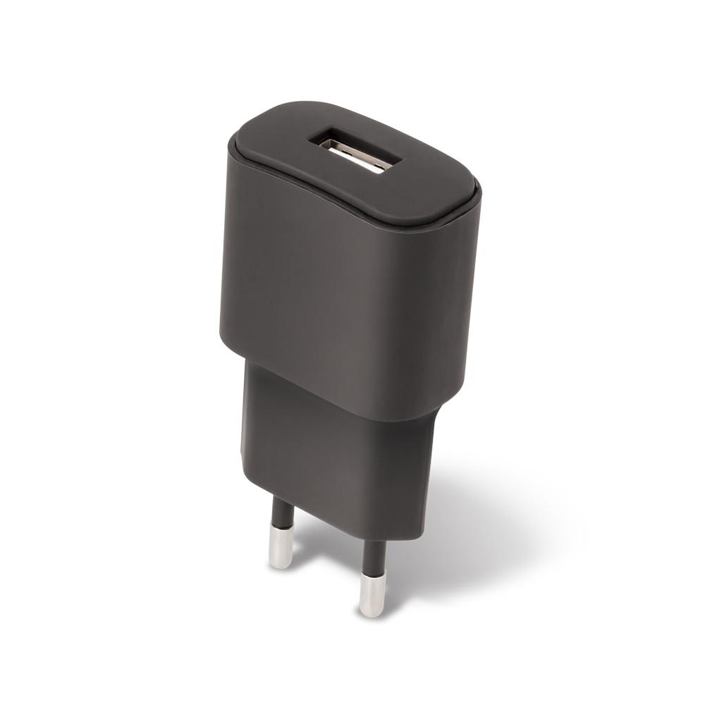 Cestovní dobíječ Forever USB 1A TC-01 s micro USB kabelem černý