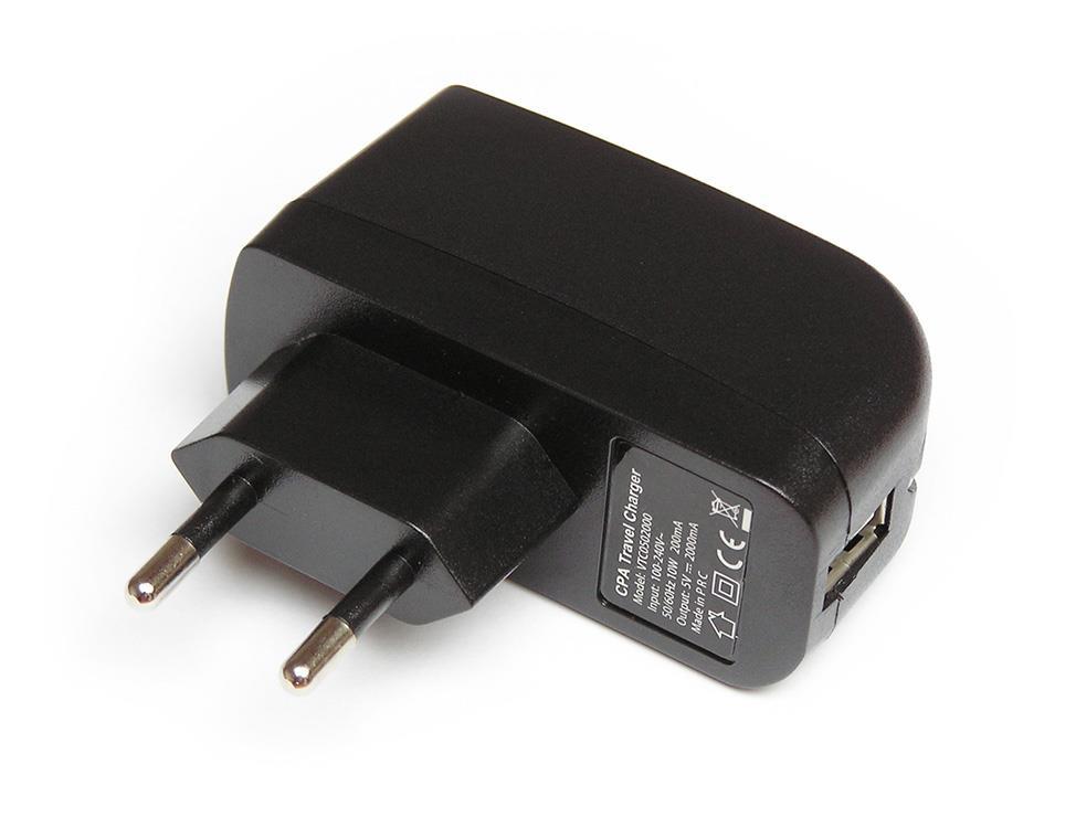 PREMIUM CESTOVNÍ DOBÍJEČ S VÝSTUPEM USB (2000mA)