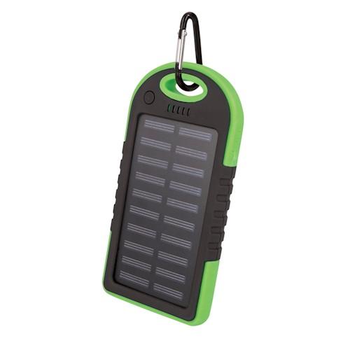 Solární power banka Setty 5000 mAh zelená