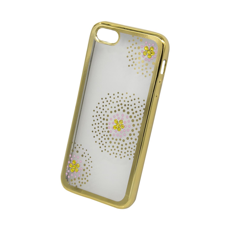 Zadní kryt Beeyo kolekce Flower Dots pro Apple iPhone 5/5S/SE zlatý