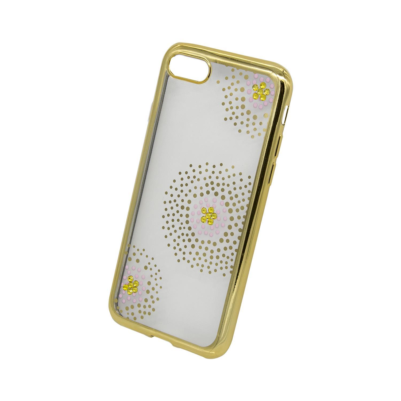 Zadní kryt Beeyo kolekce Flower Dots pro Apple iPhone 7/8 zlatý