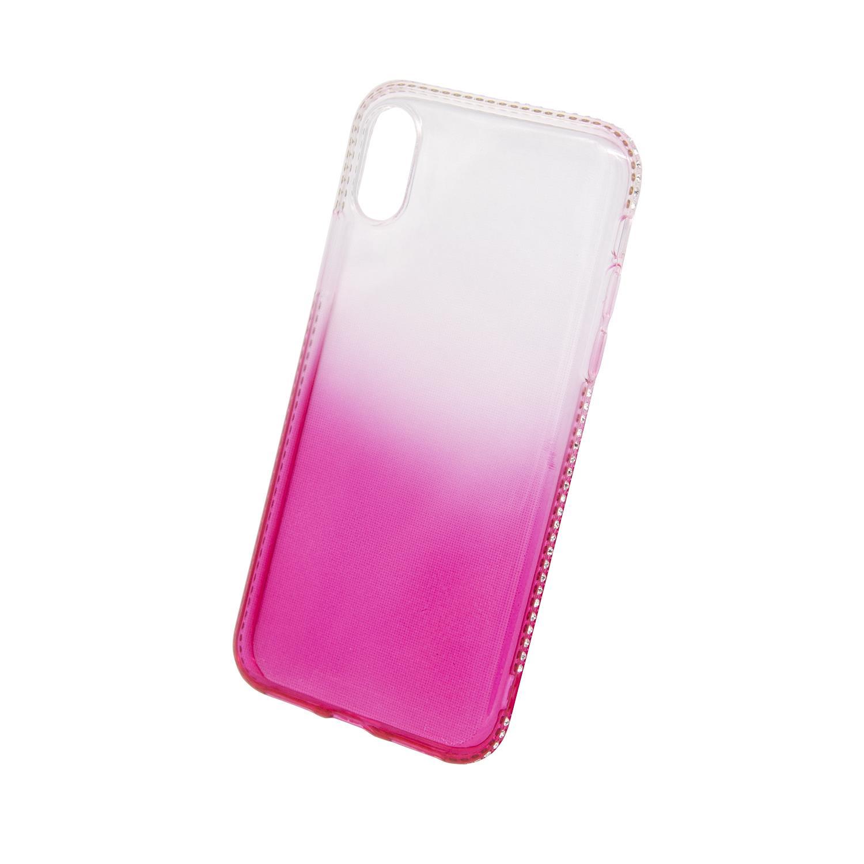 Zadní kryt Beeyo kolekce Diamond Frame pro Apple iPhone X/XS růžový