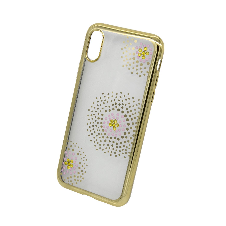 Zadní kryt Beeyo kolekce Flower Dots pro Apple iPhone X/XS zlatý