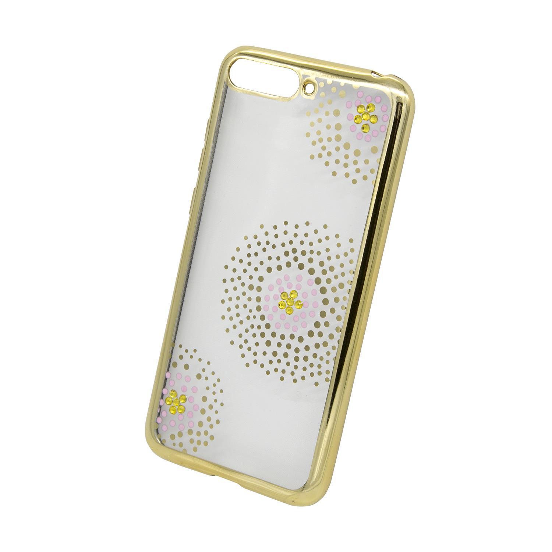 Zadní kryt Beeyo kolekce Flower Dots pro Huawei Honor 7A zlatý