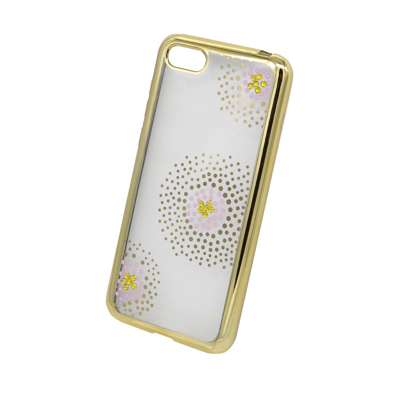 Zadní kryt Beeyo kolekce Flower Dots pro Huawei Honor 7S/Y5 2018 zlatý