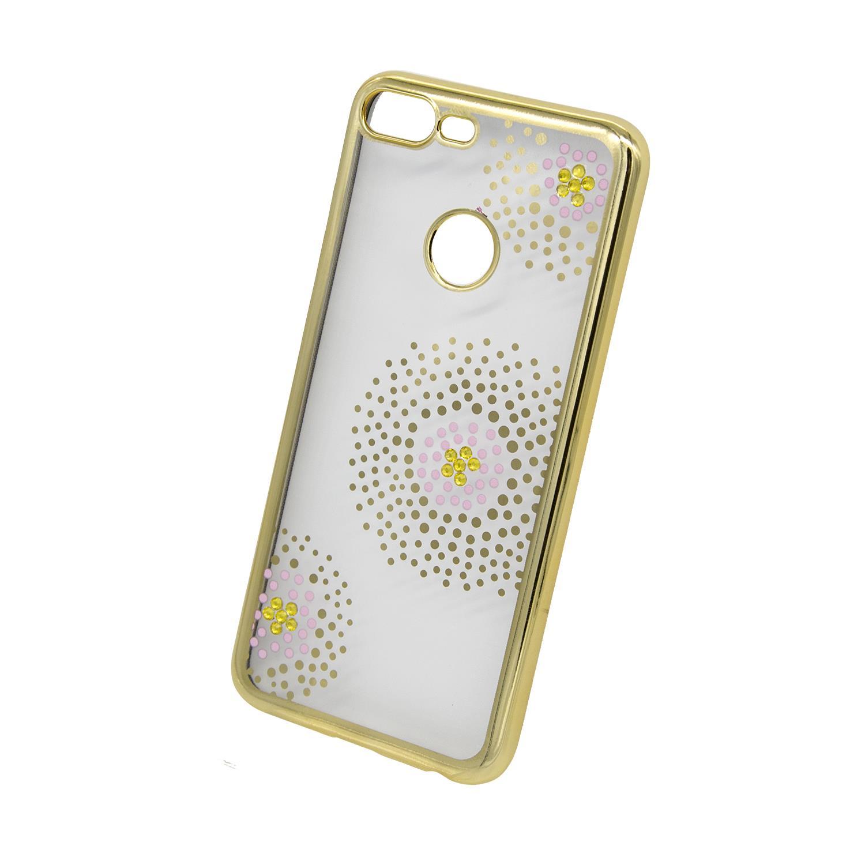 Zadní kryt Beeyo kolekce Flower Dots pro Huawei Honor 9 Lite zlatý