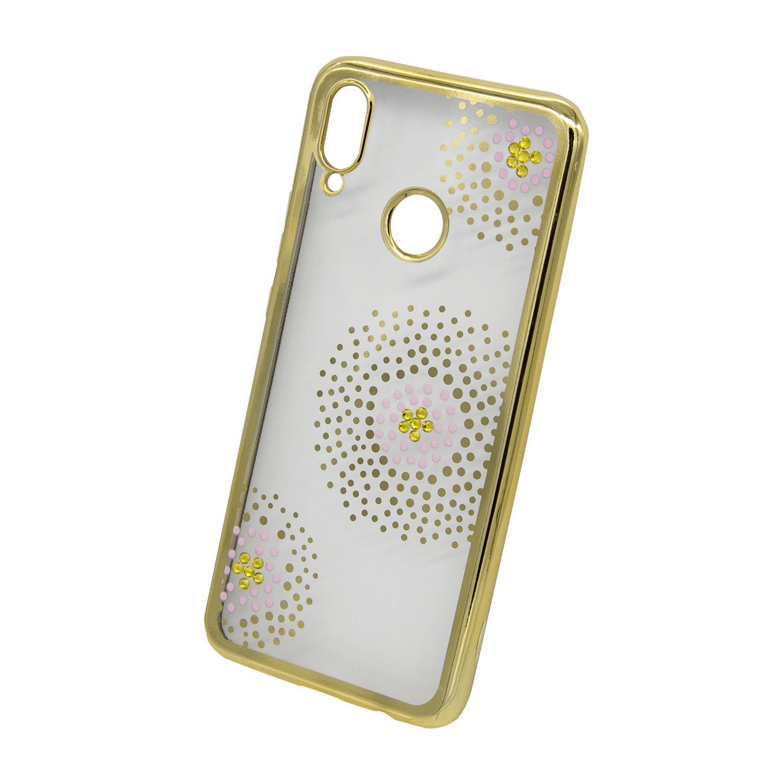 Zadní kryt Beeyo kolekce Flower Dots pro Huawei Honor Play zlatý