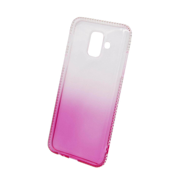 Zadní kryt Beeyo kolekce Diamond Frame pro Samsung A6 2018 růžový