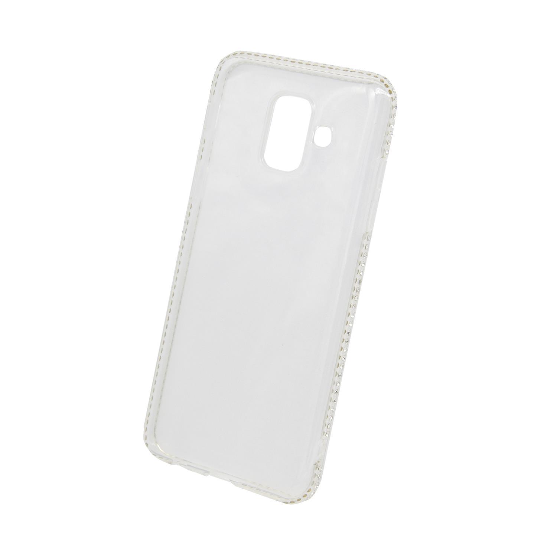 Zadní kryt Beeyo kolekce Diamond Frame pro Samsung A6 2018 transparentní