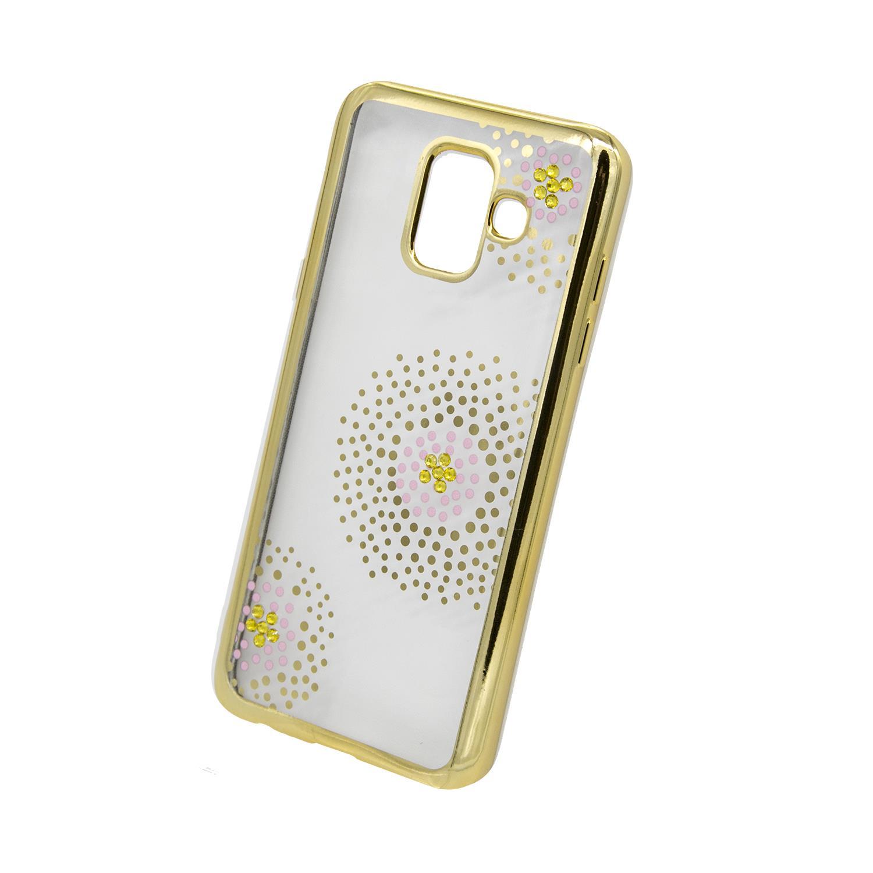 Zadní kryt Beeyo kolekce Flower Dots pro Samsung A6 2018 zlatý