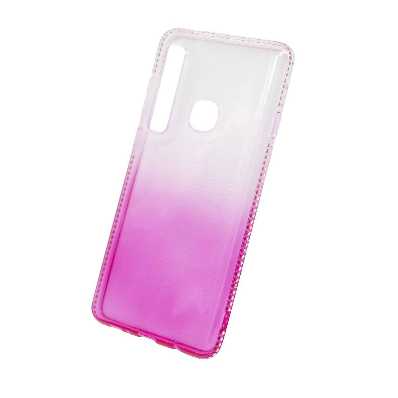 Zadní kryt Beeyo kolekce Diamond Frame pro Samsung A9 2018 růžový