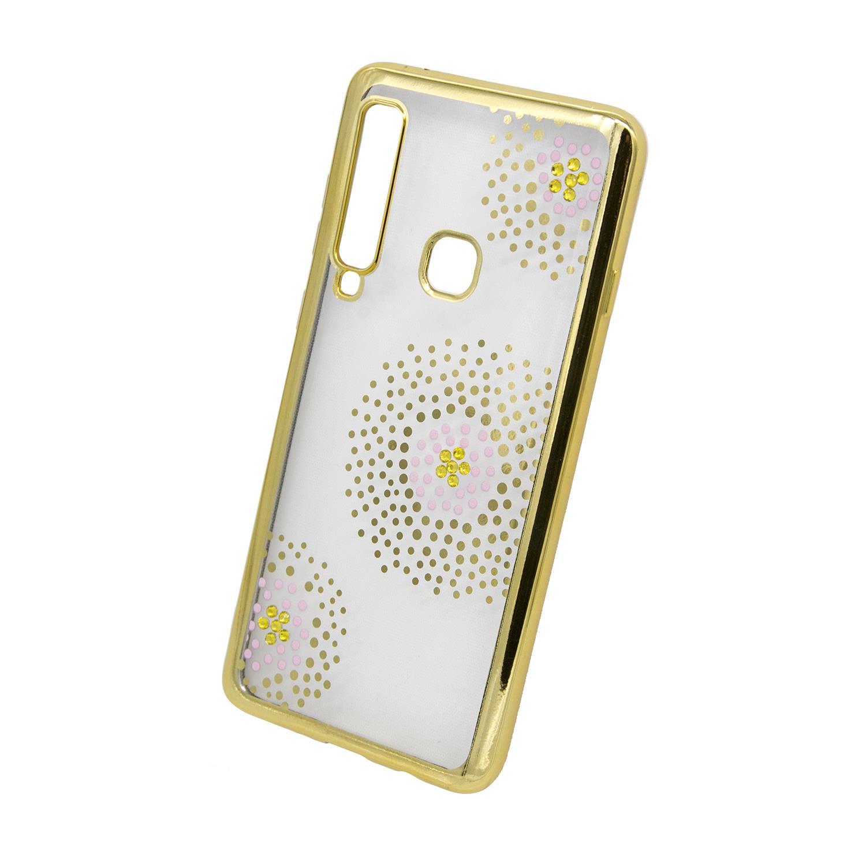 Zadní kryt Beeyo kolekce Flower Dots pro Samsung A9 2018 zlatý