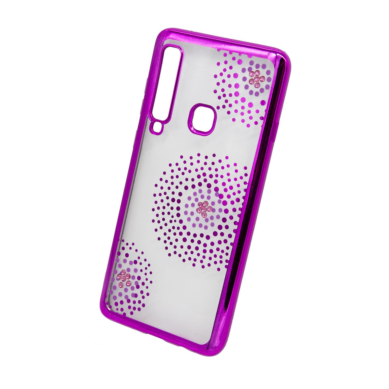 Zadní kryt Beeyo kolekce Flower Dots pro Samsung A9 2018 růžový