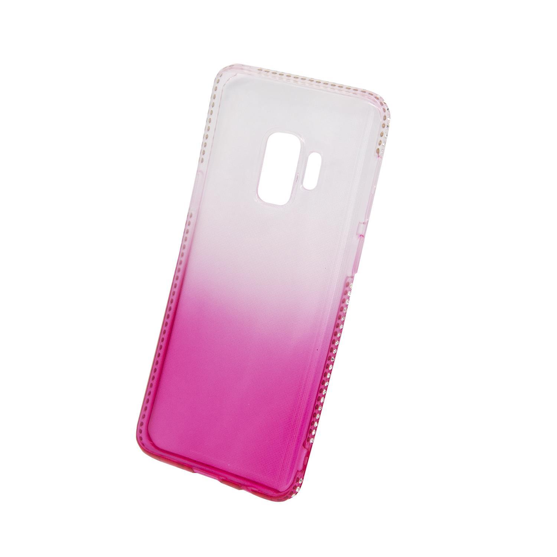 Zadní kryt Beeyo kolekce Diamond Frame pro Samsung S9 růžový