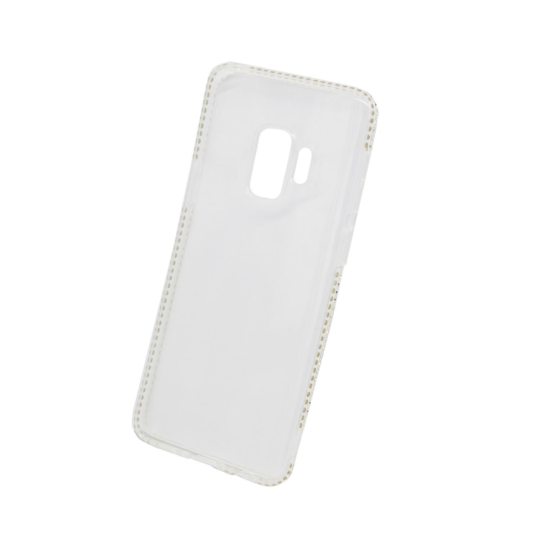 Zadní kryt Beeyo kolekce Diamond Frame pro Samsung S9 transparentní