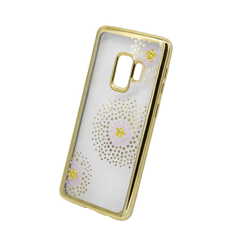 Zadní kryt Beeyo kolekce Flower Dots pro Samsung S9 zlatý