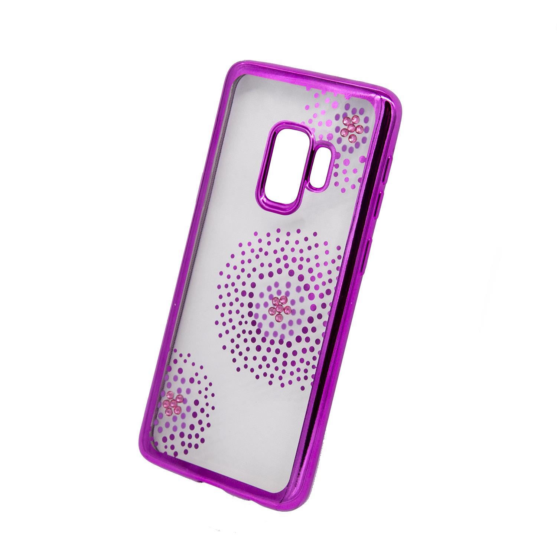 Zadní kryt Beeyo kolekce Flower Dots pro Samsung S9 růžový