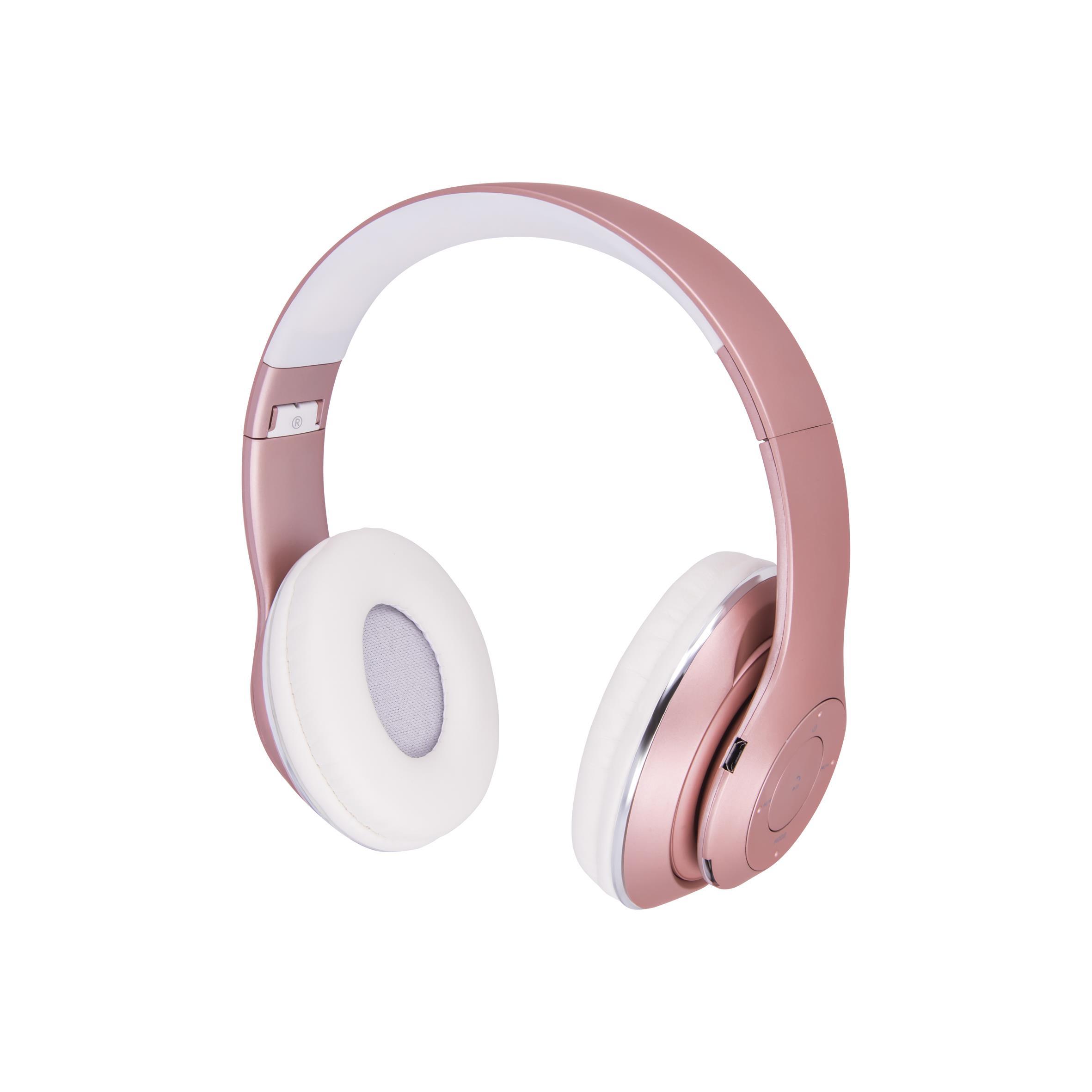 Bluetooth stereo sluchátka Forever BHS-300 růžová