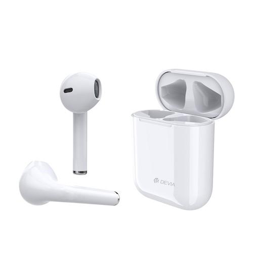 Bluetooth sluchátka Devia TWS BT5.0 bílé