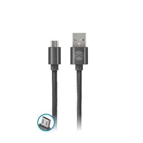 DATOVÝ KABEL TFO MICRO USB - LEATHER ČERNÝ (TFO-N)