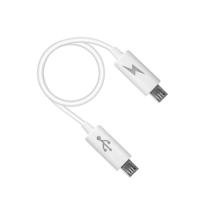 DOBÍJECÍ KABEL TFO OTG - MICRO USB - BÍLÝ