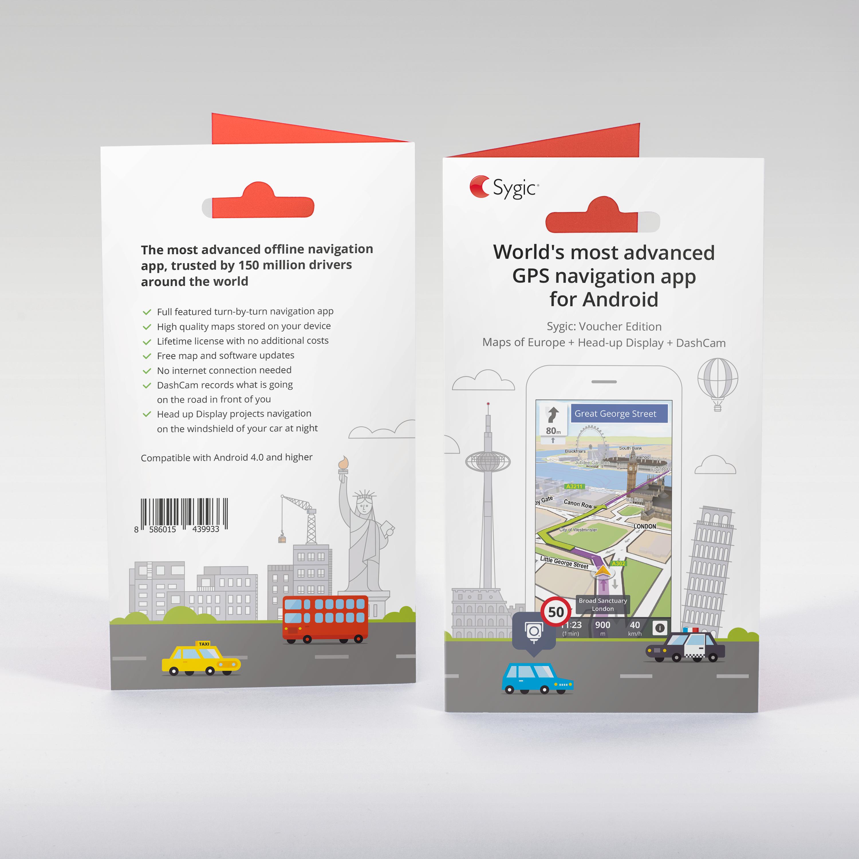 -NAVIGAČNÍ SW SYGIC GPS (Voucher) Europe + Head-up Display + DashCam