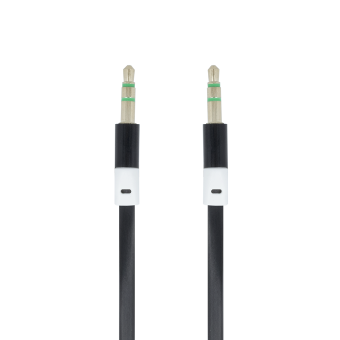 AUDIO KABEL TFO 3,5mm JACK 1m - ČERNÝ