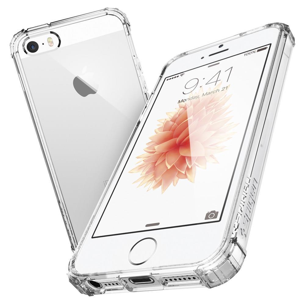 OCHRANNÝ KRYT (HARD) SPIGEN Crystal Shell PRO APPLE IPHONE 5/5S/5SE - TRANSPARENTNÍ