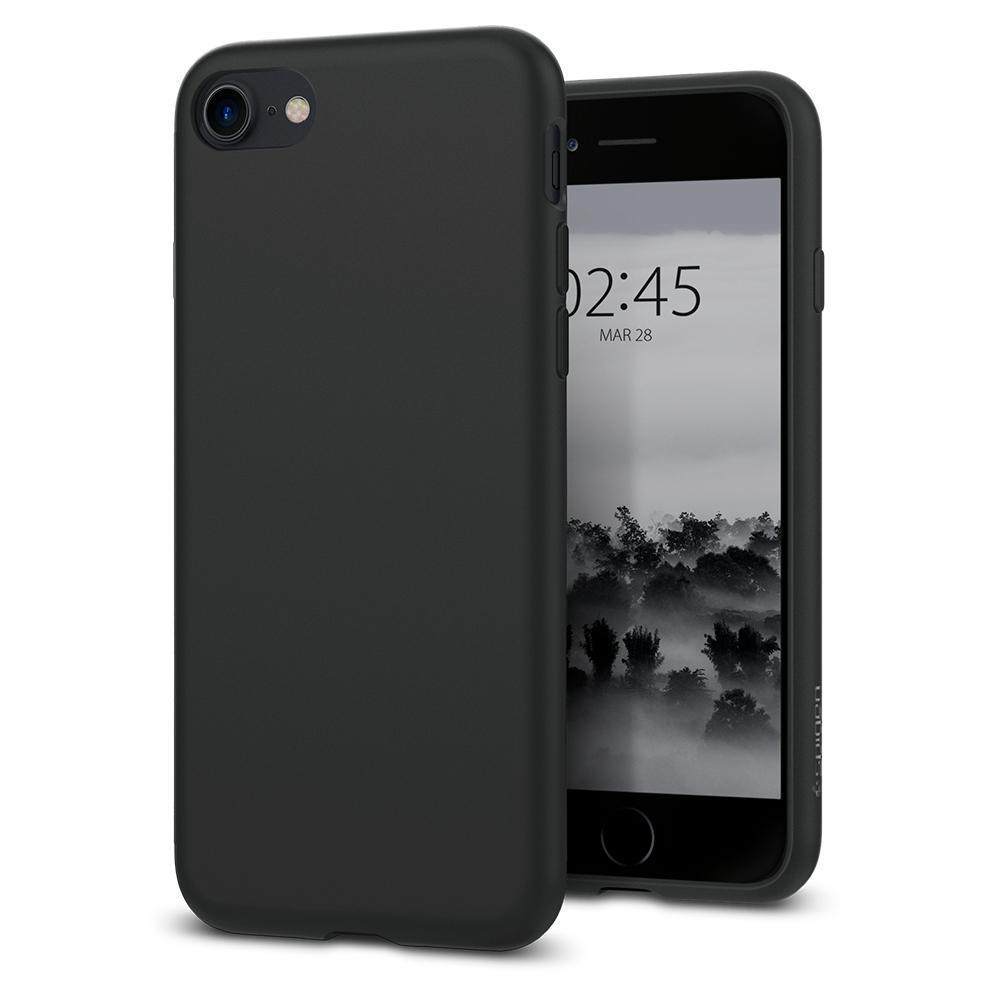 Ochranný kryt Spigen Liquid Crystal pro Apple iPhone 8/7 matný černý