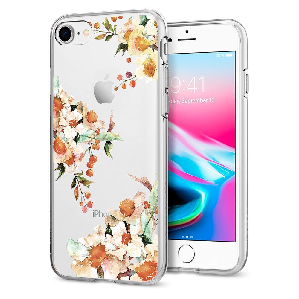 Ochranný kryt Spigen Liquid Crystal Aquarelle pro Apple iPhone 8/7 prvosenka