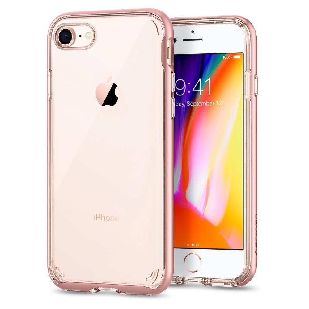 Ochranný kryt Spigen Neo Hybrid Crystal 2 pro Apple iPhone 7/8 zlatorůžový