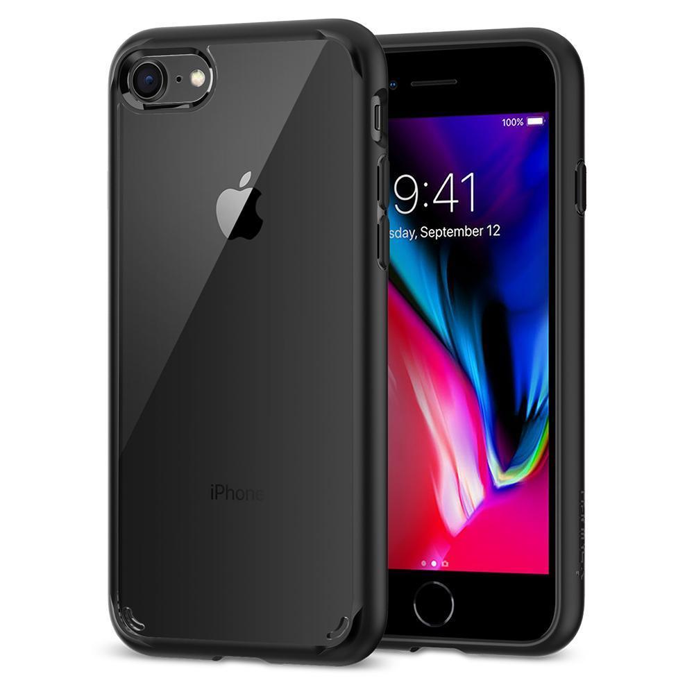 Ochranný kryt Spigen Ultra Hybrid 2 pro Apple iPhone 7/8 transparentní