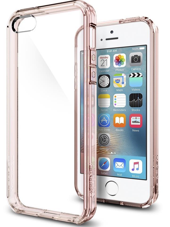 Ochranný kryt Spigen Ultra Hybrid pro Apple iPhone SE/5S/5 růžový