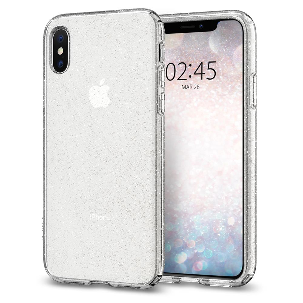 Ochranný kryt Spigen Liquid Crystal Glitter pro Apple iPhone XS/X krystalový