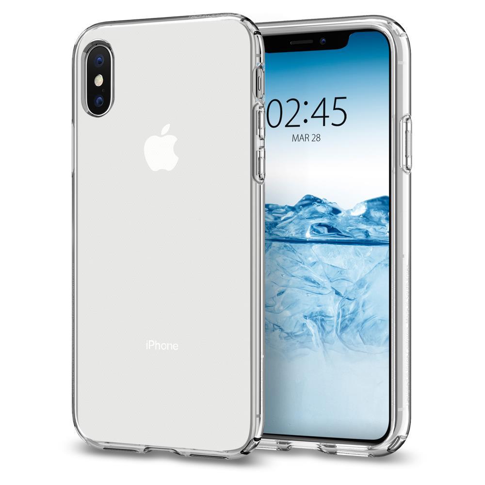 Ochranný kryt Spigen Liquid Crystal pro Apple iPhone XS/X transparentní