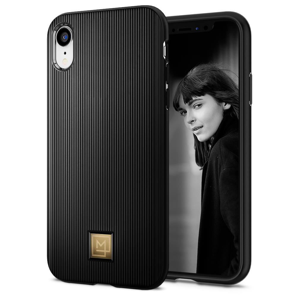 Ochranný kryt Spigen La Manon Classy pro Apple iPhone XR černý