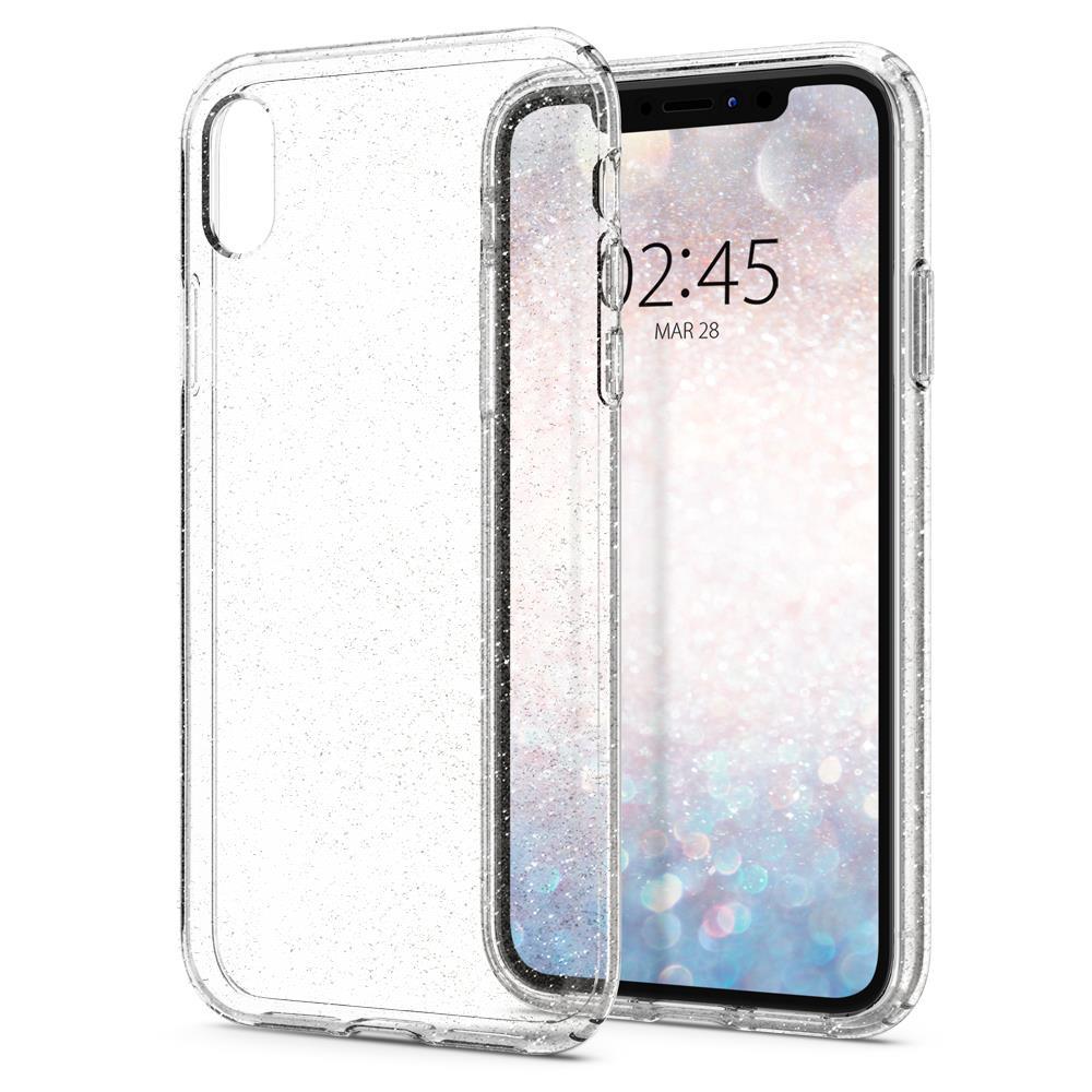 Ochranný kryt Spigen Liquid Crystal Glitter pro Apple iPhone XR transparentní