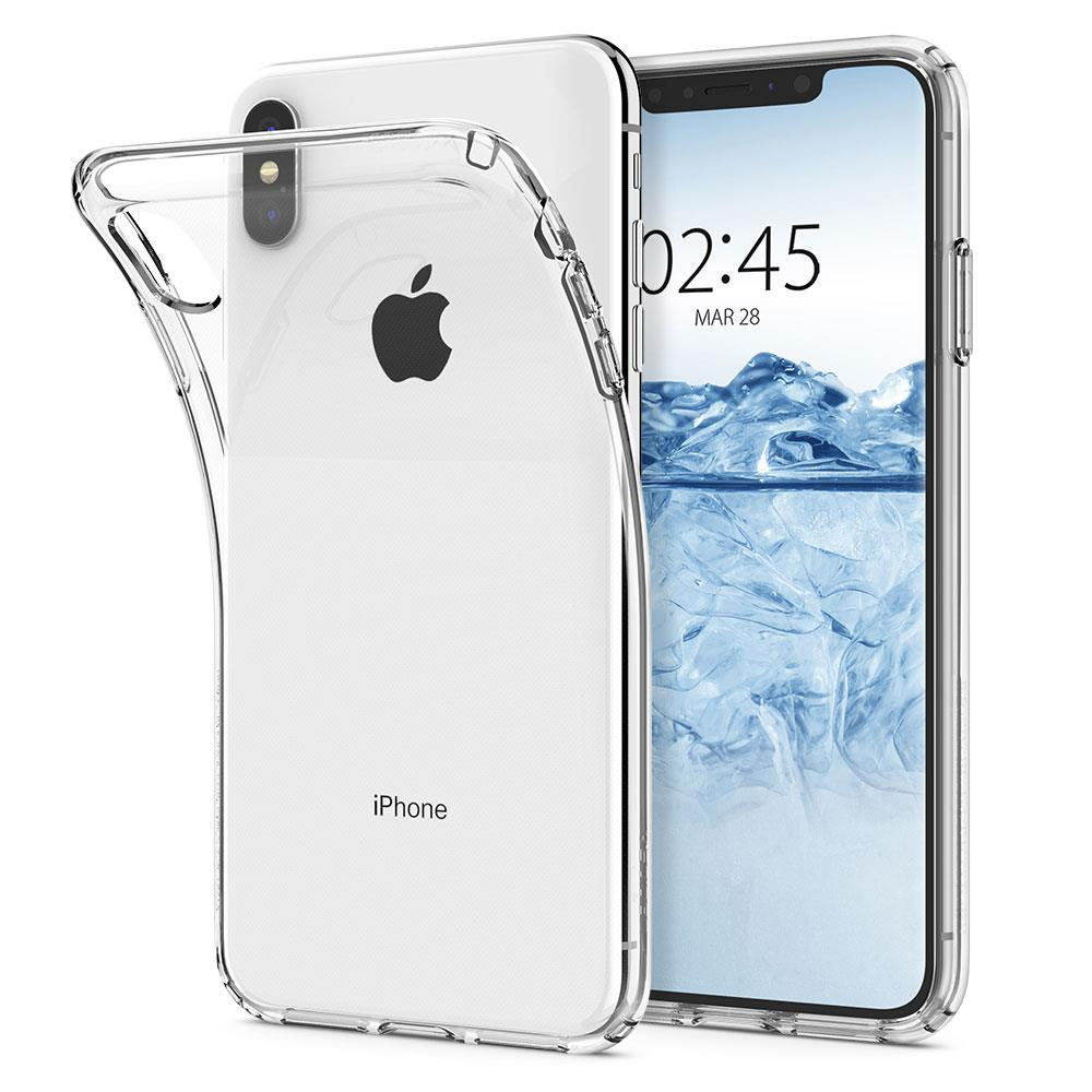 Ochranný kryt Spigen Liquid Crystal pro Apple iPhone XS Max transparentní
