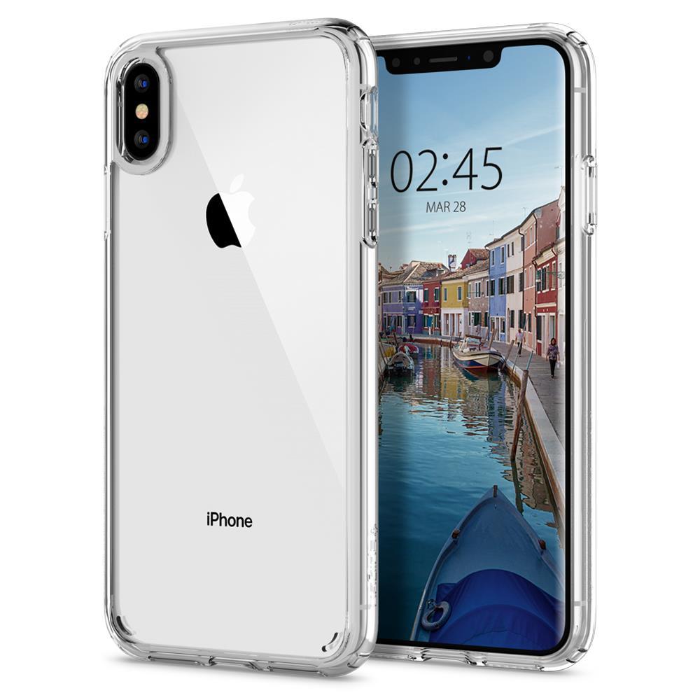 Ochranný kryt Spigen Ultra Hybrid pro Apple iPhone XS Max transparentní