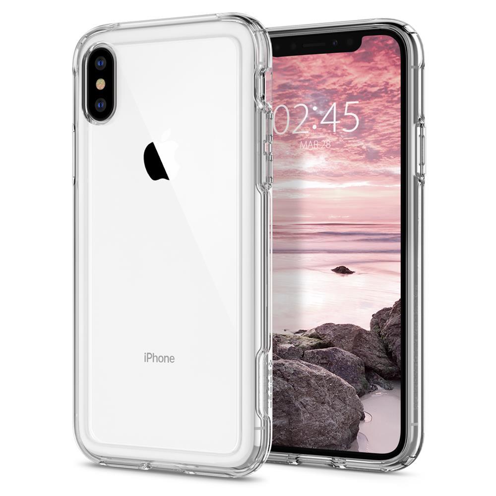 Ochranný kryt Spigen Crystal Hybrid pro Apple iPhone XS/X transparentní
