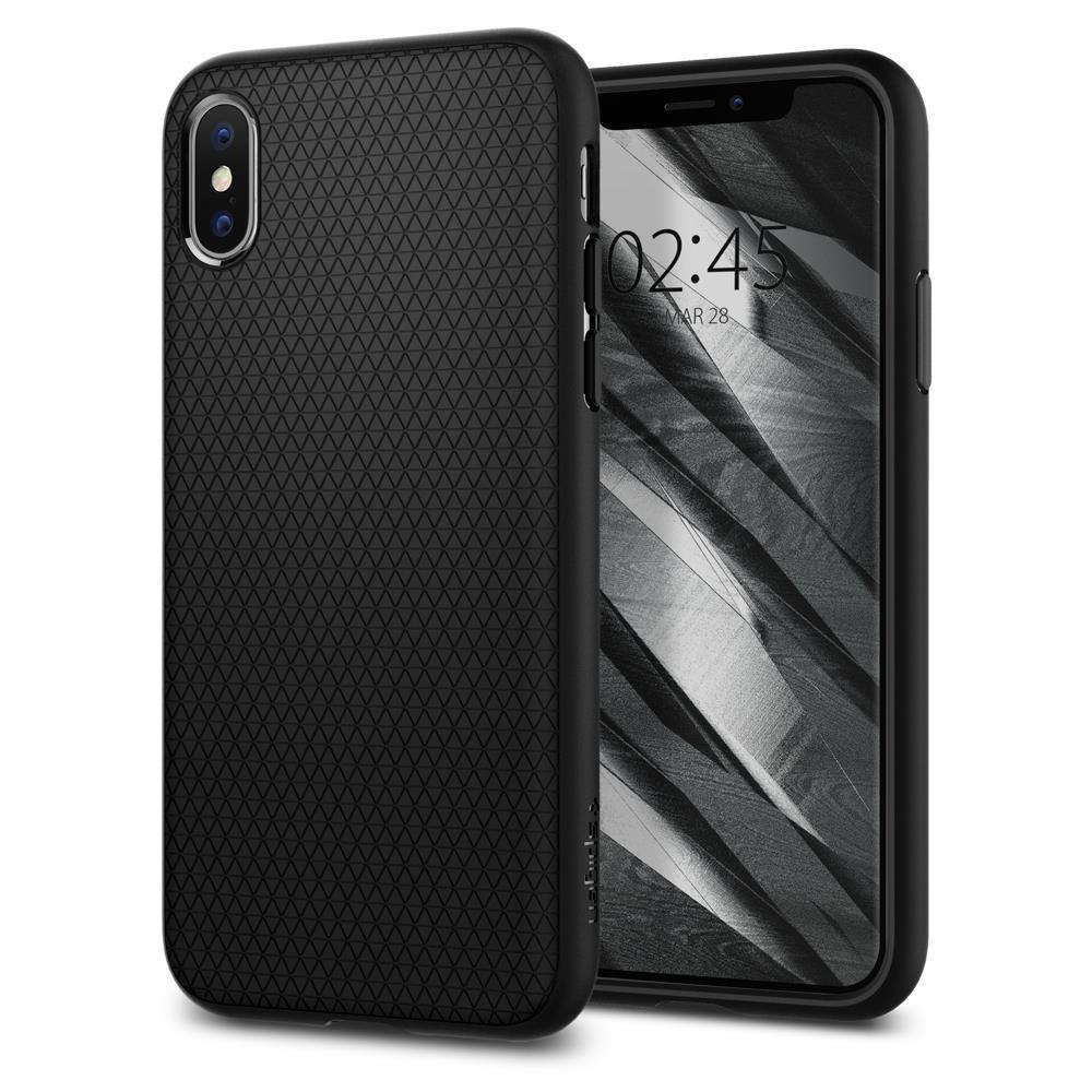 Ochranný kryt Spigen Liquid Air pro Apple iPhone XS/X černý