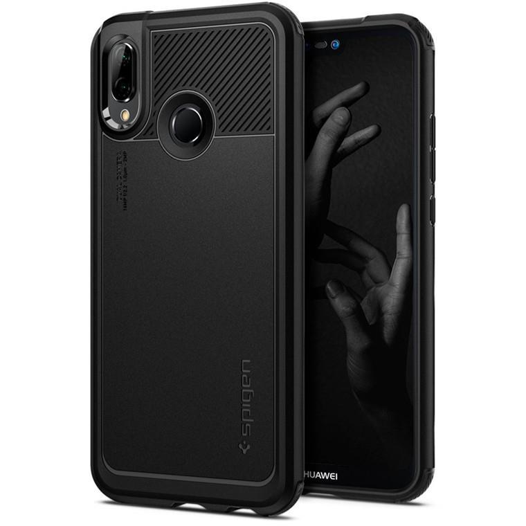 Ochranný kryt Spigen Marked Armor pro Huawei P20 Lite černý