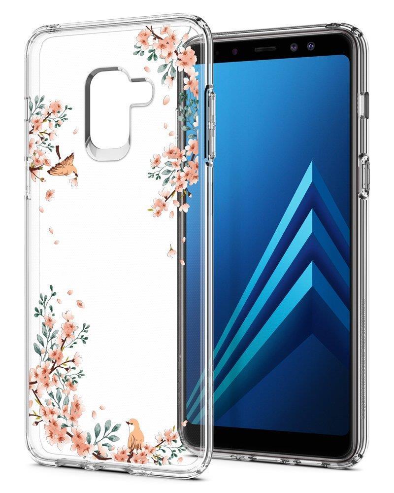 Ochranný kryt Spigen Liquid Crystal Blossom pro Samsung Galaxy A8 (2018) příroda