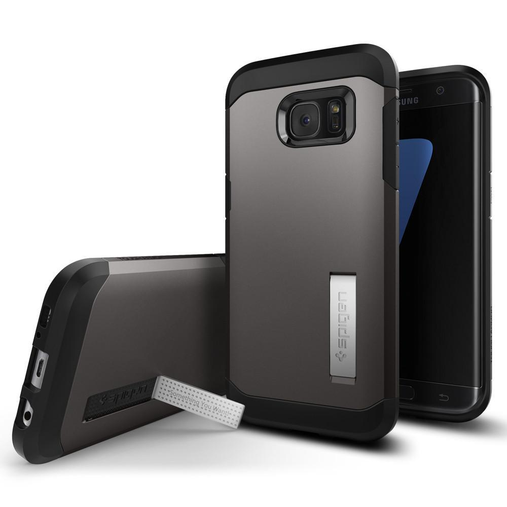 Ochranný kryt Spigen Tough Armor pro Samsung Galaxy S7 Edge metalický