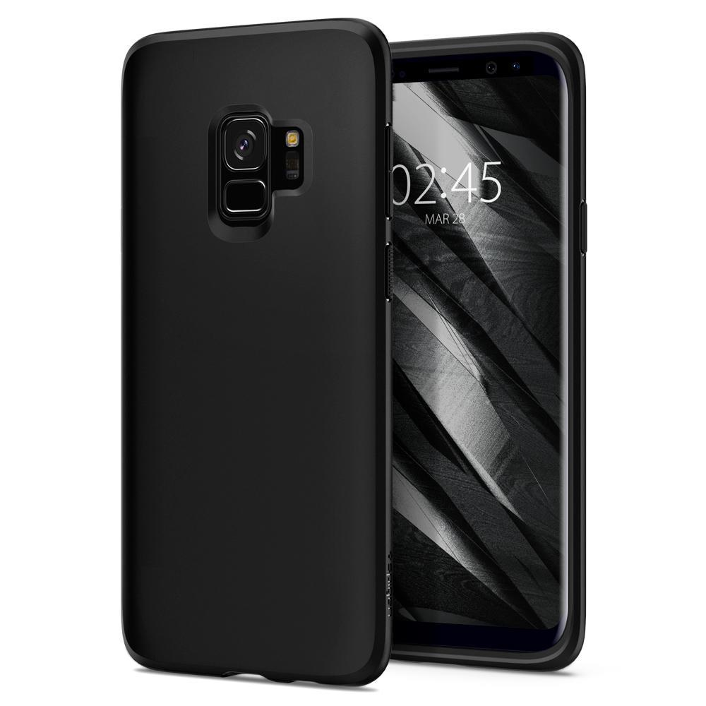 Ochranný kryt Spigen Liquid Crystal pro Samsung Galaxy S9 matný černý