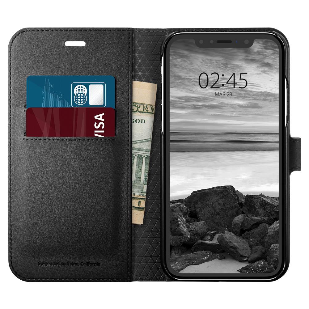 Pouzdro s funkcí stojánku Spigen Wallet S pro Apple iPhone XR černé
