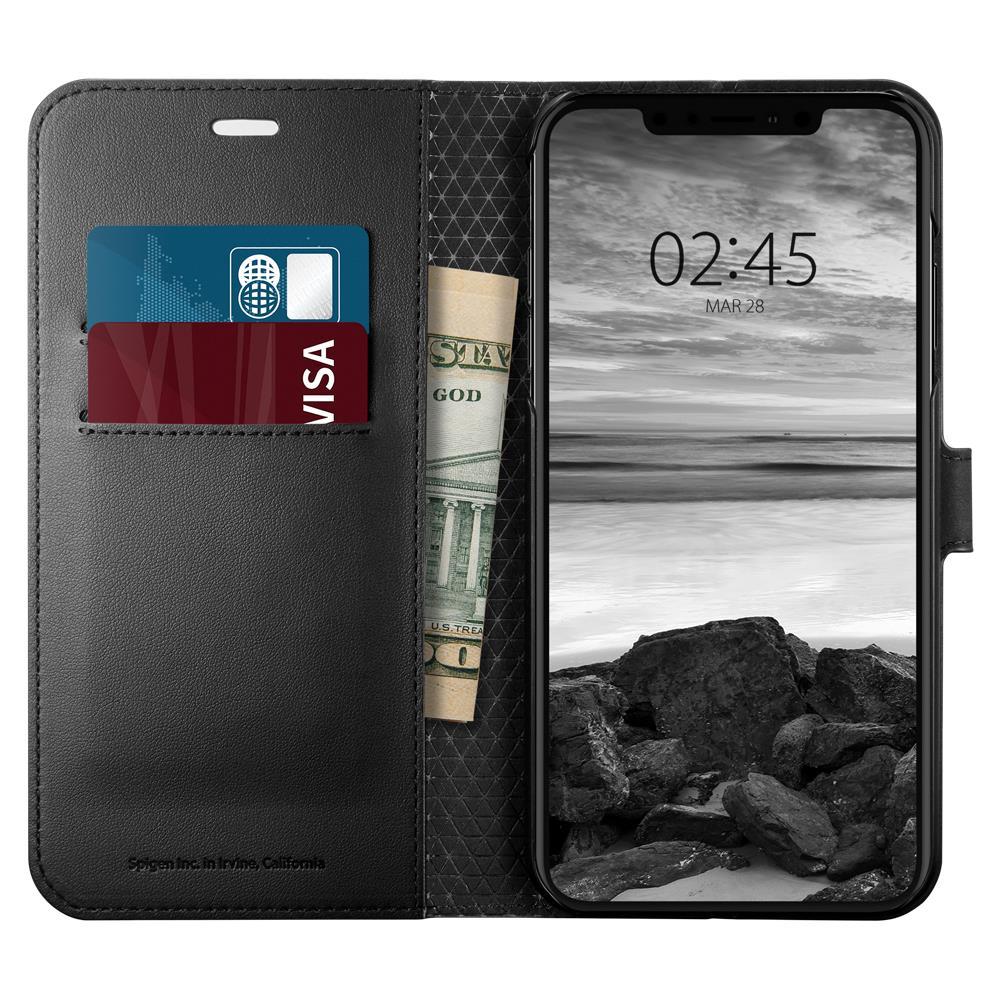 Ochranné pouzdro s funkcí stojánku Spigen Wallet S pro Apple iPhone XS Max černé