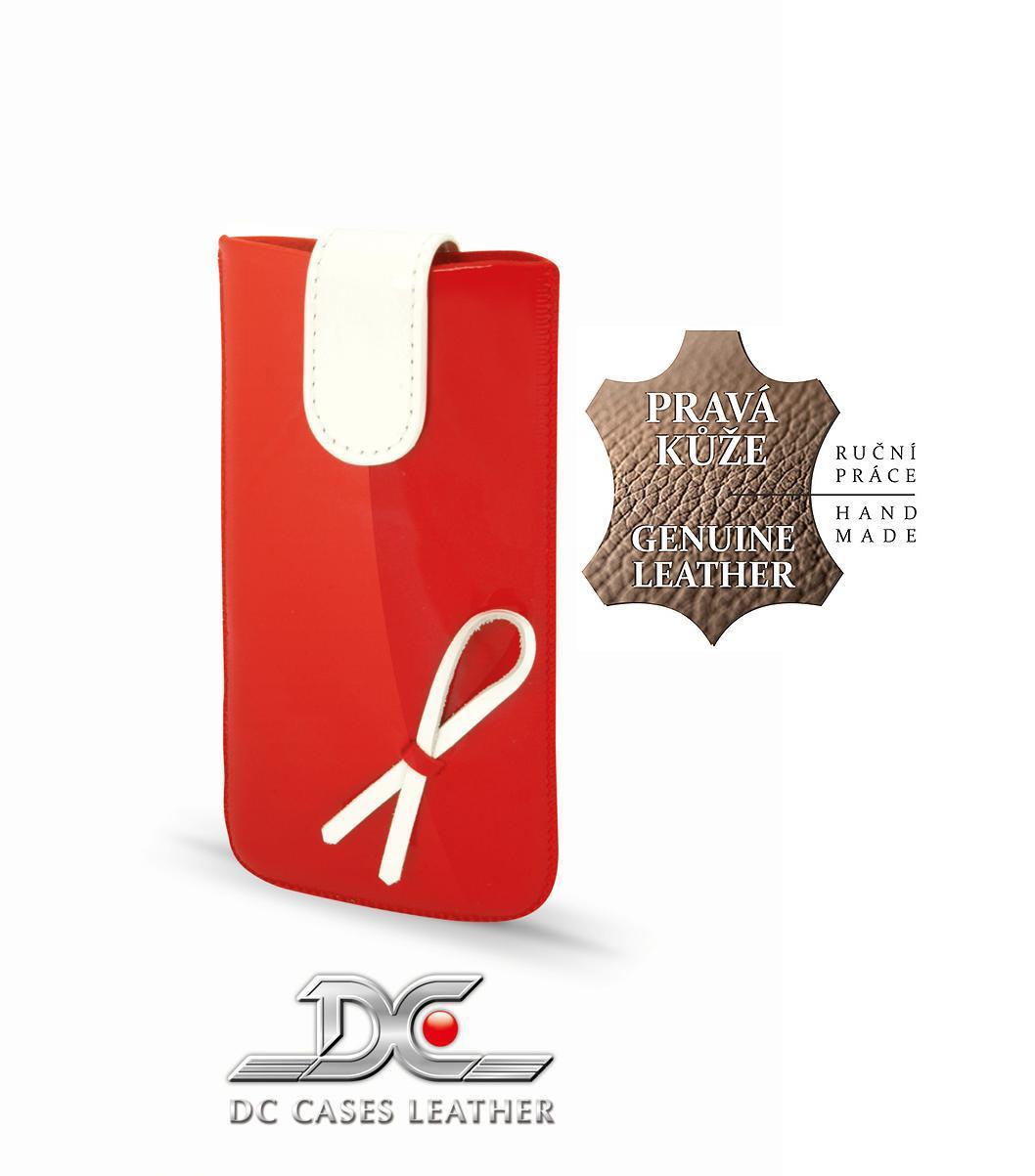 DC (TOP) POUZDRO L+ Protect (M) S MAŠLIČKOU Lesklé ČEVENÉ (iPhone 5S)