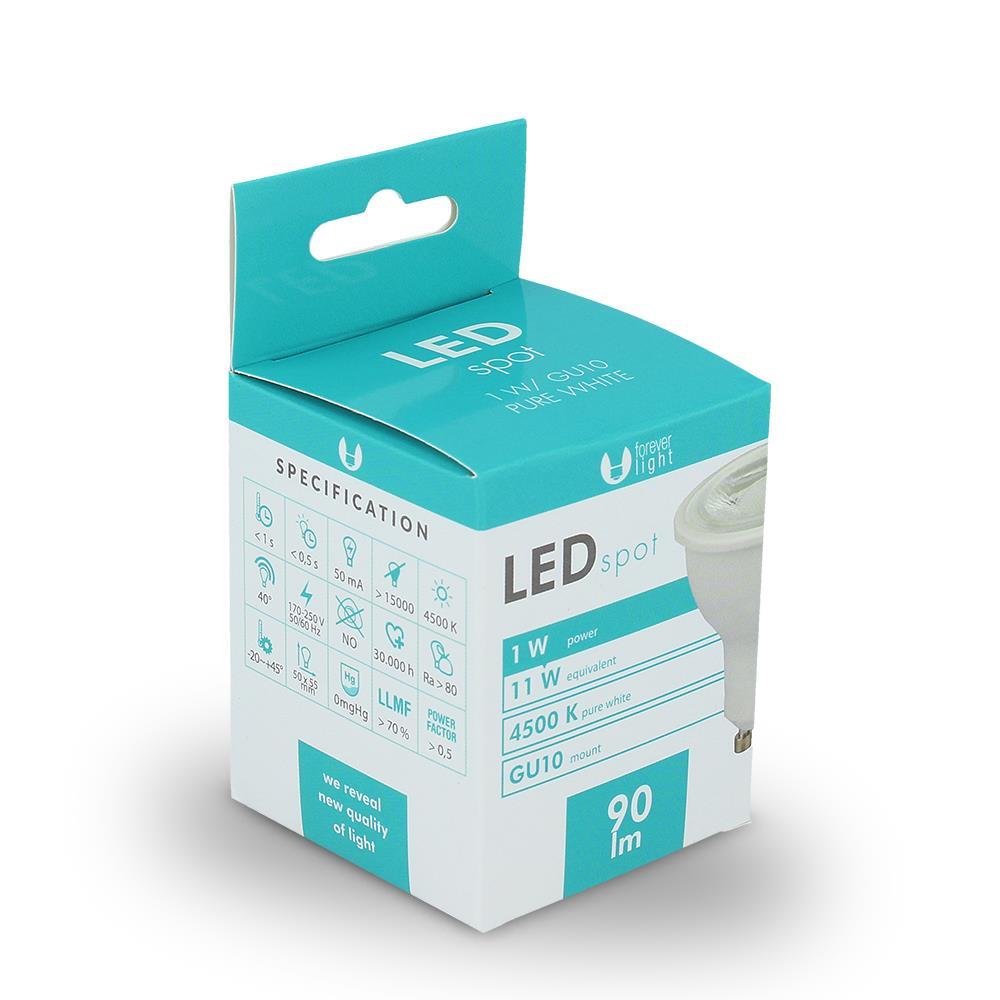 LED žárovka Forever GU10 1W bílá