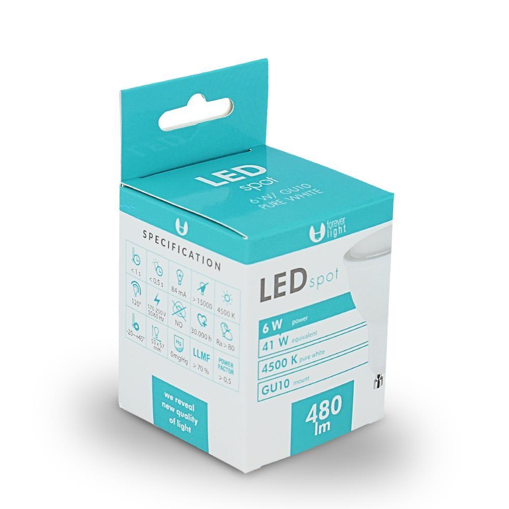 LED žárovka Forever GU10 6W bílá
